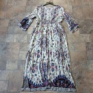 Umgee floral boho tunic dress